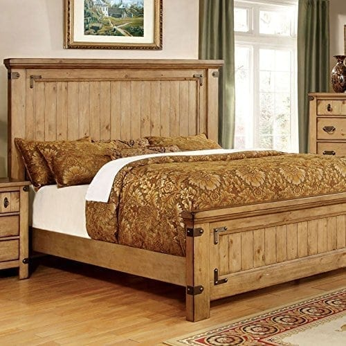 247SHOPATHOME IDF-7449EK-6PC Bedroom-Furniture-Sets, King, Weathered Elm