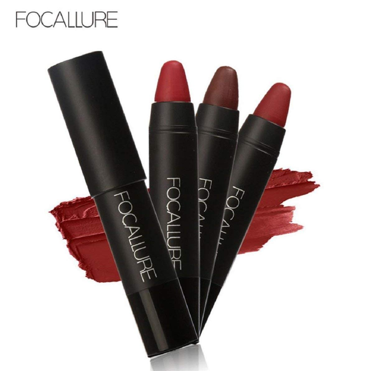 Lookatool Long-lasting Red Velvet Matte Lipstick Crayon Makeup Set