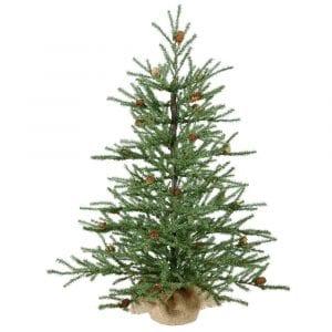 "Vickerman 36"" Carmel Pine Artificial Christmas Tree"