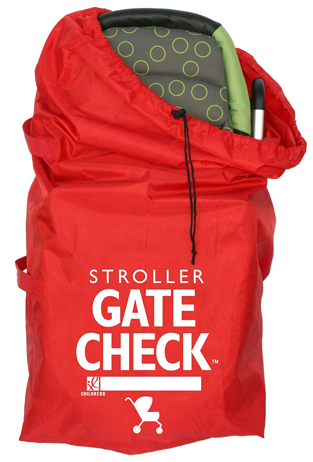 J.L Childress Gate Check Bag for Standard and Double Strollers, Red