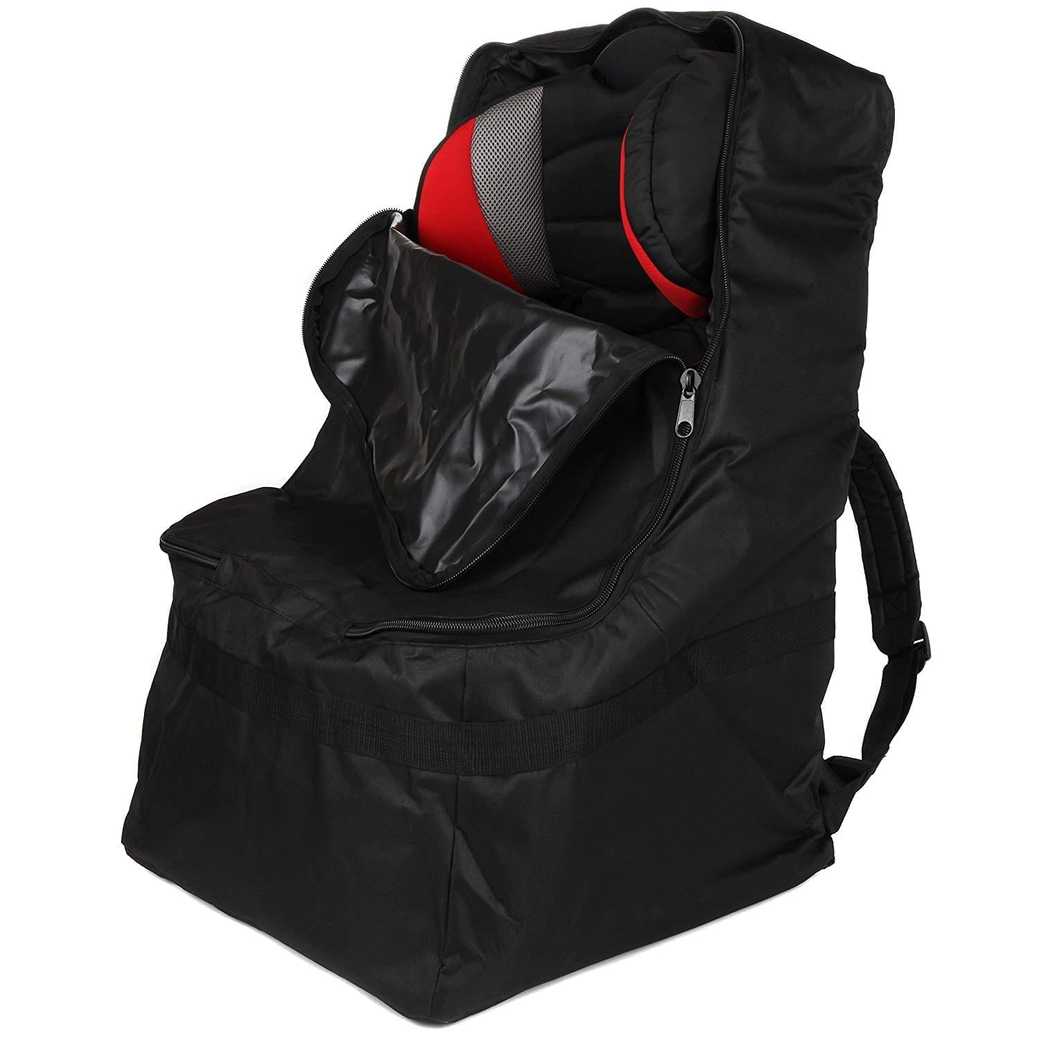 Full-Size Car Seat Travel Bag – Black Car Seat Carrier and car Seat Bag for Airplane