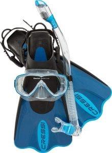 Cressi Light Weight Premium Travel Snorkel set