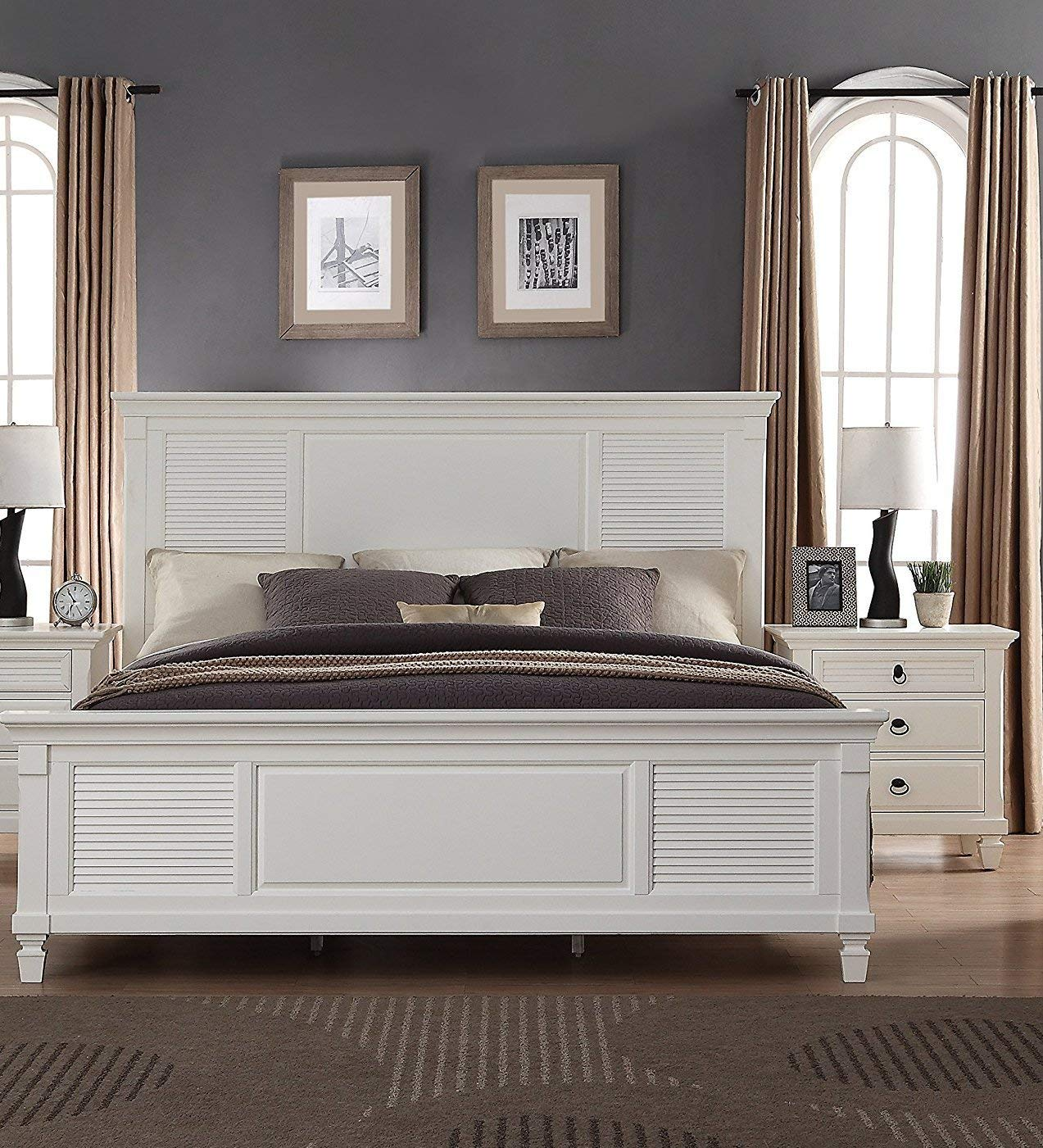 Roundhill Furniture Regitina 016 Bedroom Furniture Set, King Bed