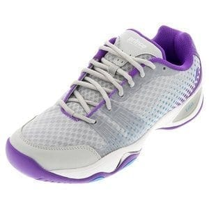 Prince T22 Lite Womens Tennis Shoe (Grey/Purple/Blue)