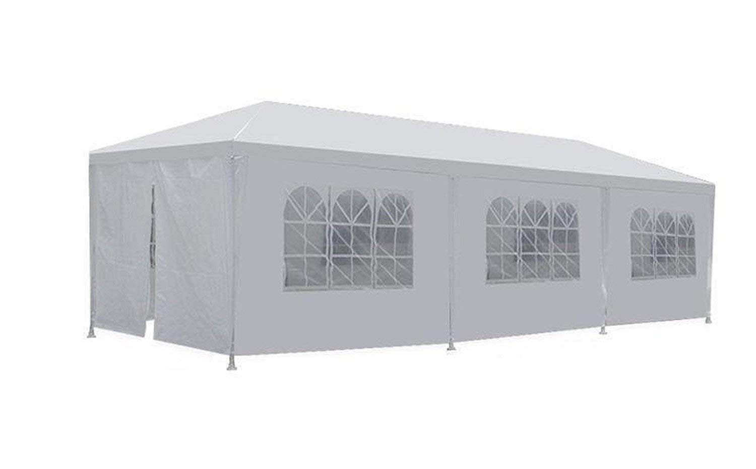 New 10ft x 30ft x 8.5ft White Outdoor Gazebo Canopy Party Wedding Tent