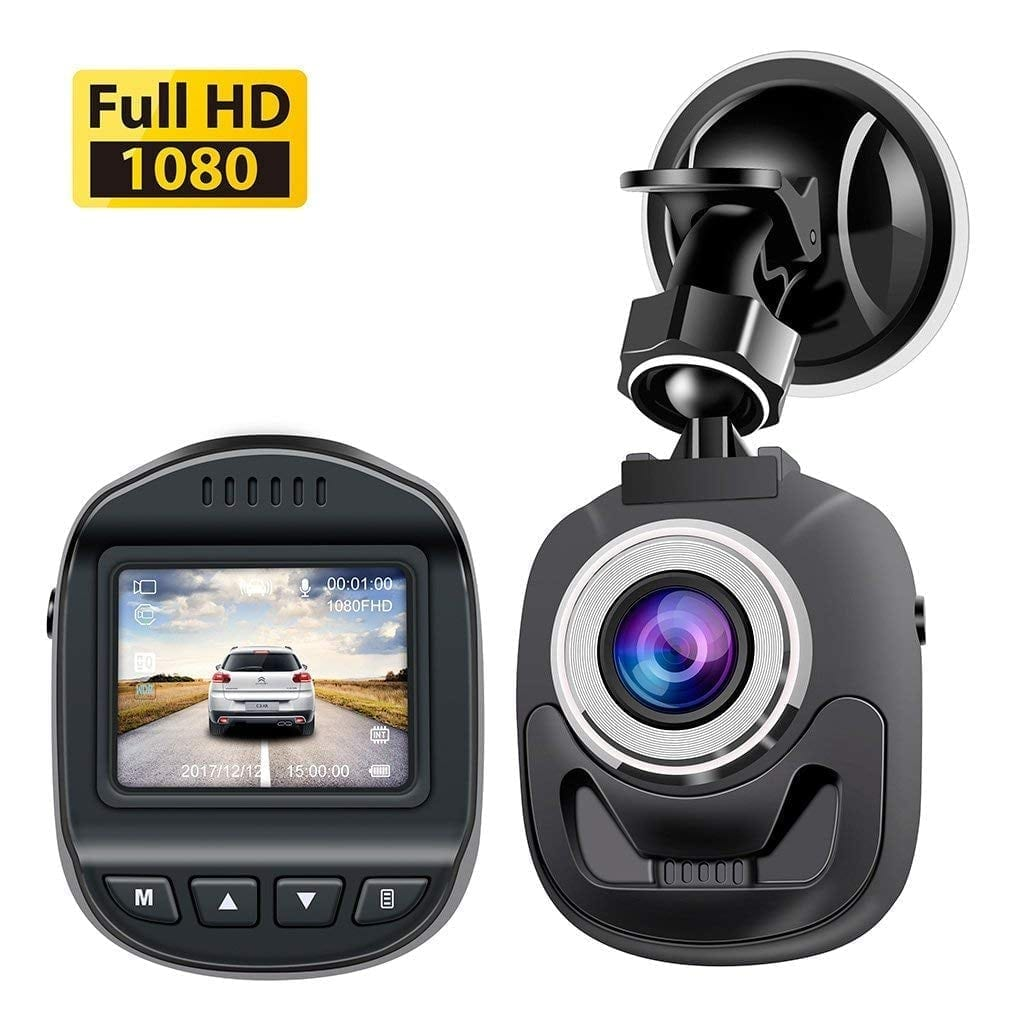 Accfly Dash Mini Dash Cam with 1080P and 120o wide view angle lens