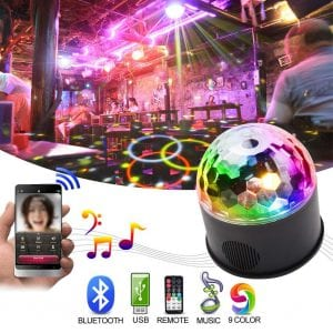 KOOT Disco Ball DJ Light Bluetooth Speaker Party Lights