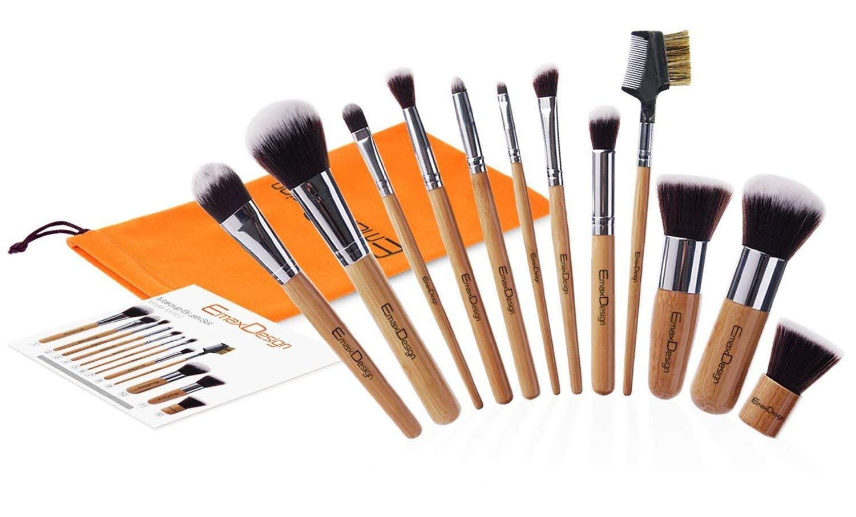 EmaxDesign Professional Bamboo Handle Makeup Brush Set