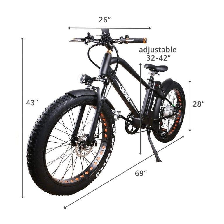 "NAKTO 26"" 500W Electric Bicycle Fat Tire Bike"