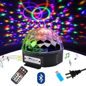 Outgeek DJ Lights, 9 Color LED Bluetooth Stage Lights