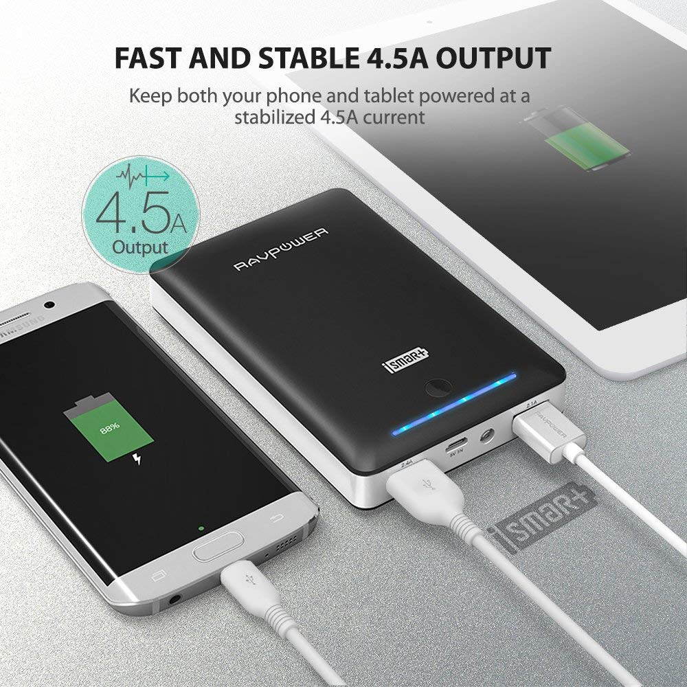 RAVPower 16750mAh Portable Phone Battery Power Bank Charger