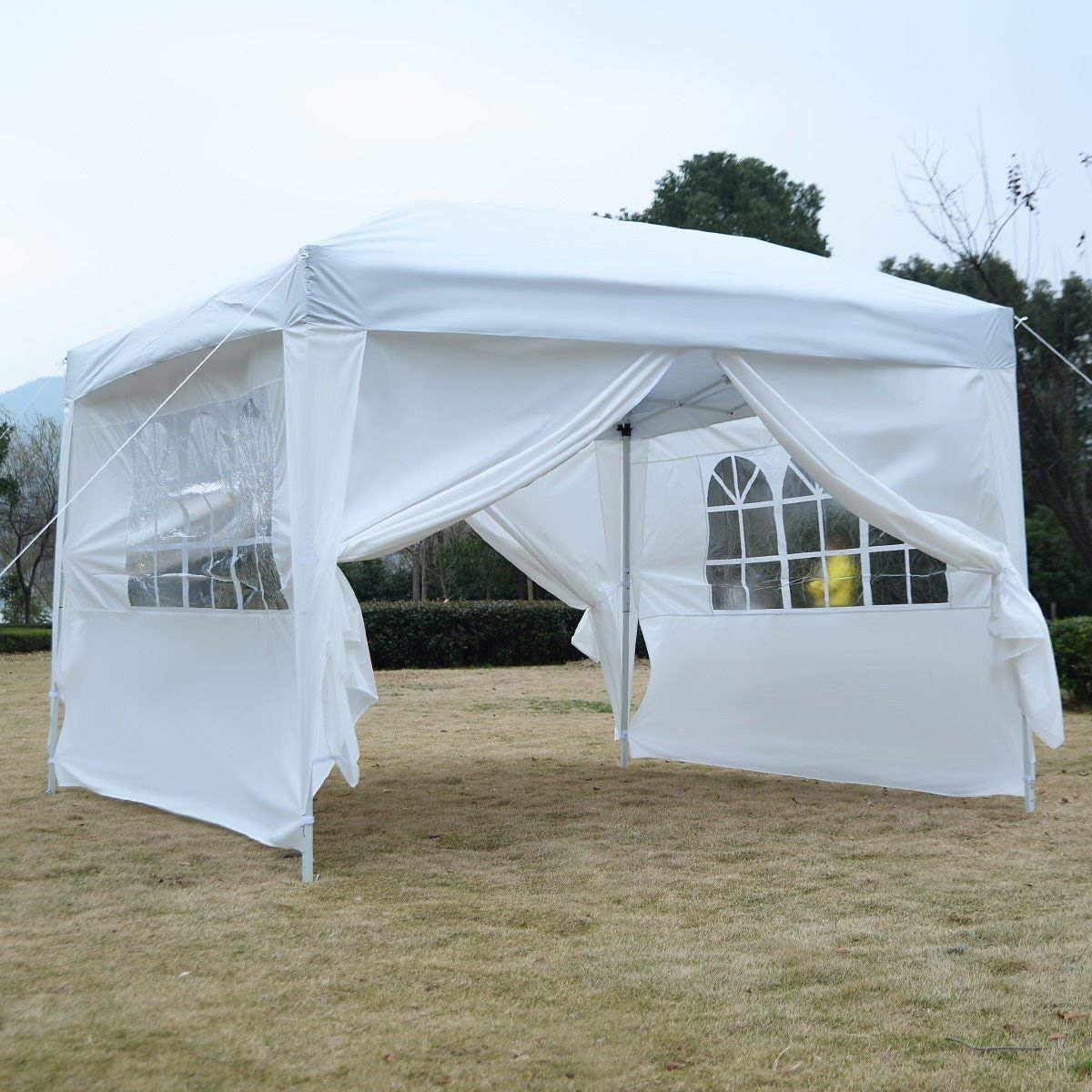 Tangkula 10ft x10ft Outdoor Pop-up Canopy Party Tent