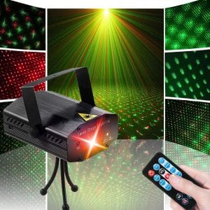 Sibaok LED Disco DJ Party Laser Lights
