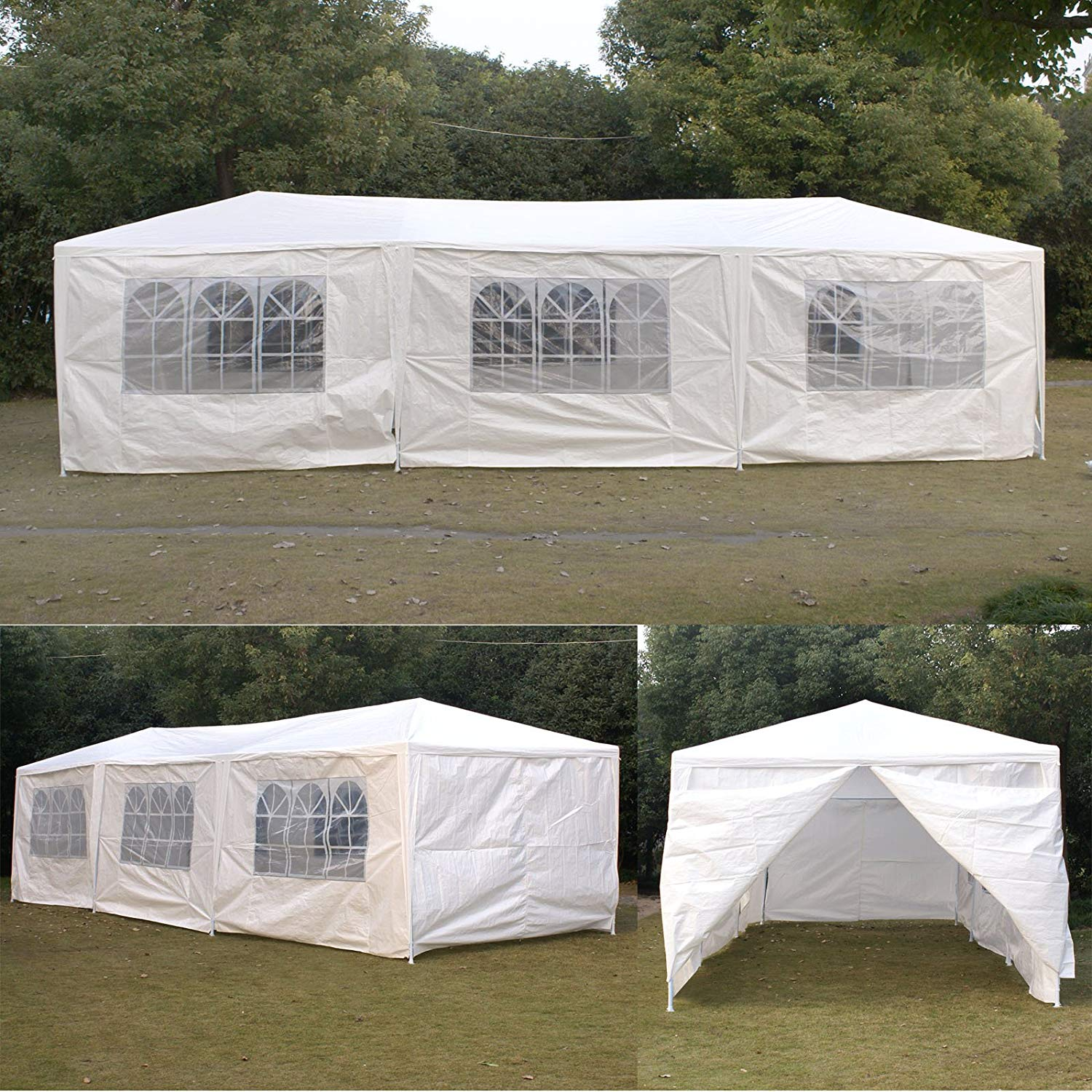 SmartXChoices 10ft x 30ft White Gazebo Canopy Outdoor Heavy Duty Wedding Party Tent