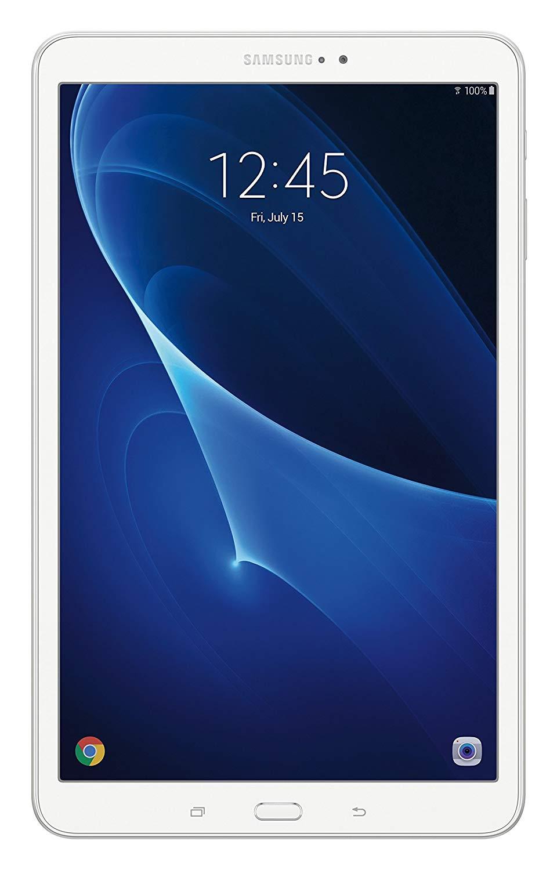 White Samsung Galaxy Tab A, SM-T580NZWAXAR, 10.1-inch Wi-Fi tablet