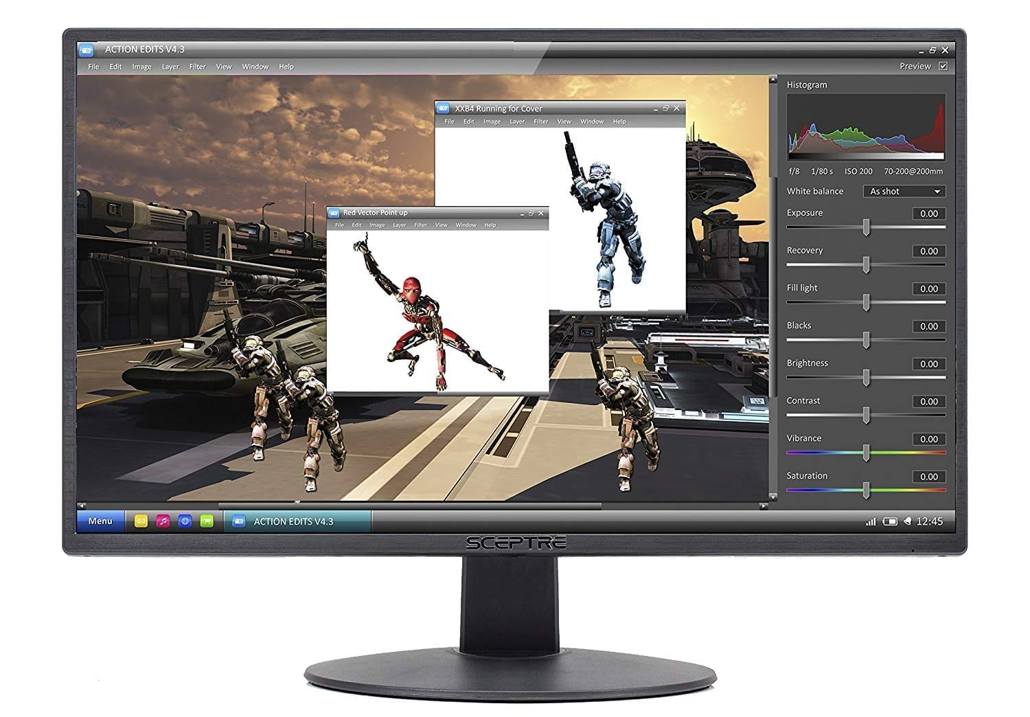 Sceptre E205W -1600 20-inch 75Hz Ultrathin LED Gaming Monitor