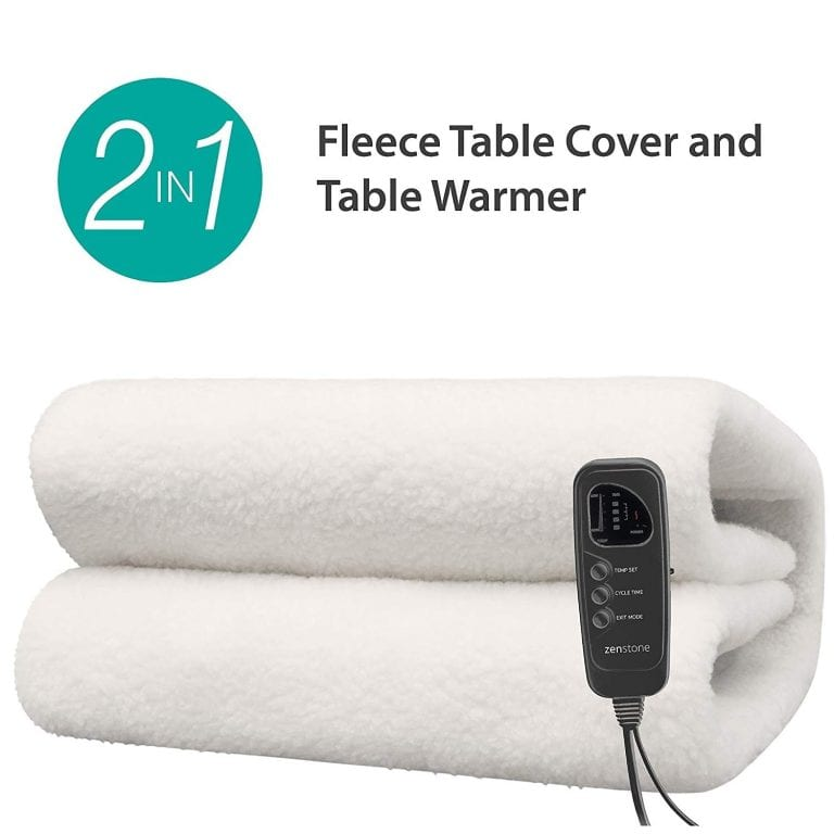 ZENSTONE Pro - 2in1 Deluxe Ultra-Thick Massage Table Warmer