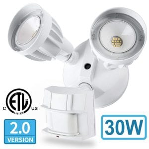 Amico 30W LED Dual-Head Security Motion Light