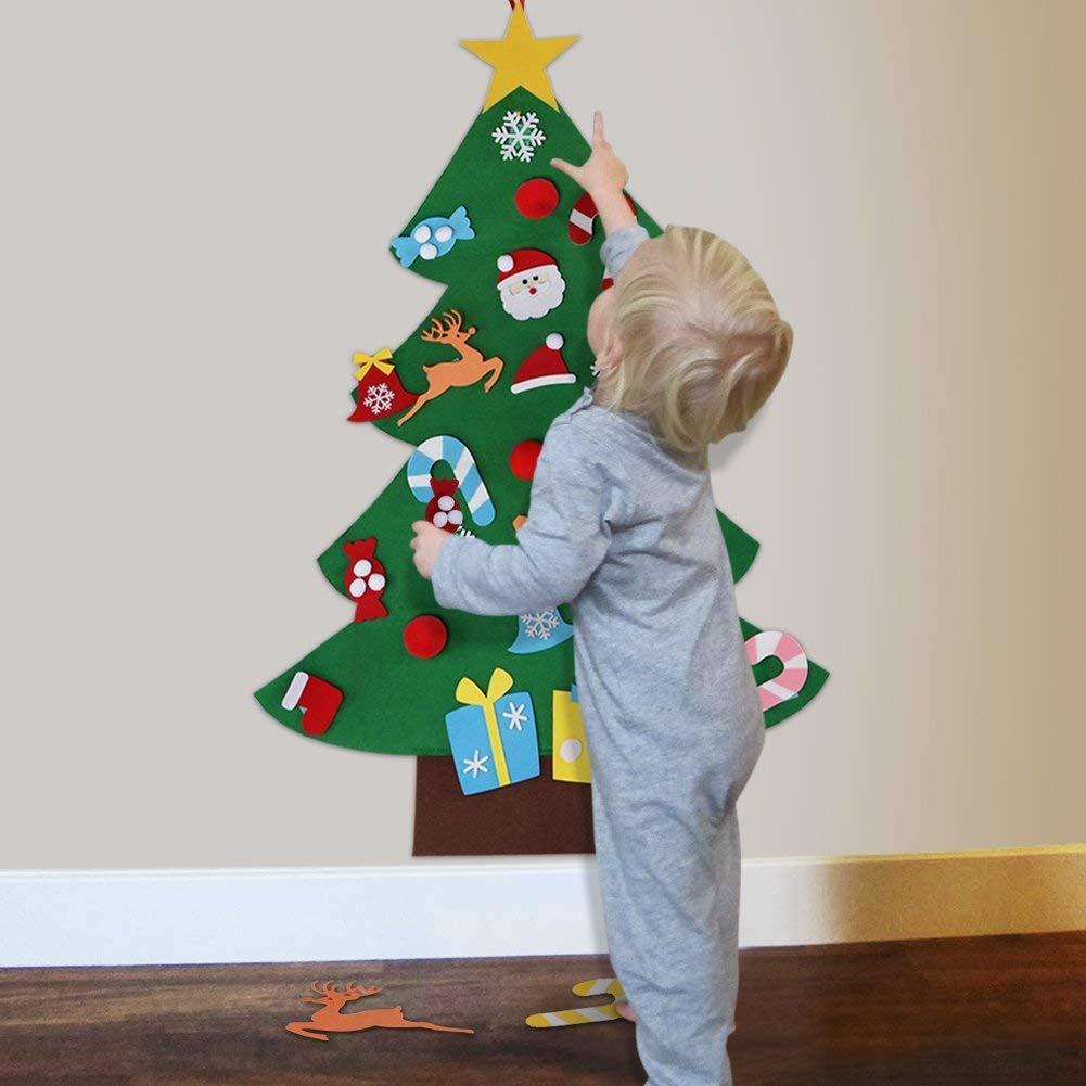 Aytai DIY Felt Christmas Tree Set with Ornaments for Kids, Xmas Gifts,