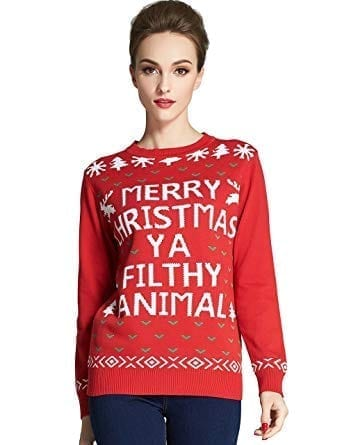 Camii Mia Women's Crew Neck Pullover Ugly Christmas Sweater