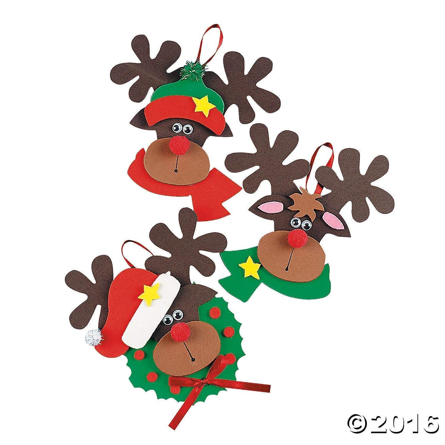 Foam Reindeer Holiday Ornament Craft Kit