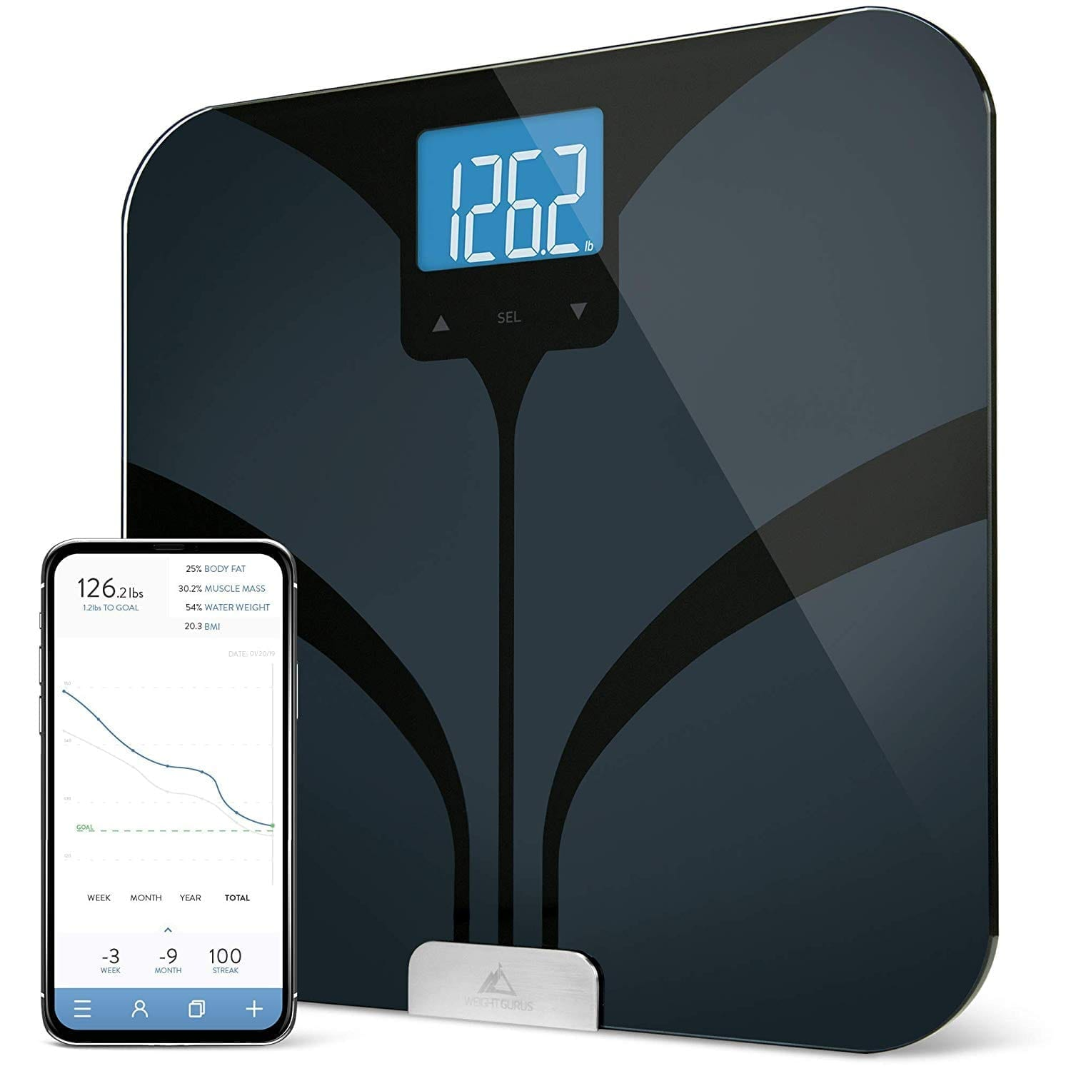 Greater Goods Bluetooth Smart Body Fat and Weight Scale