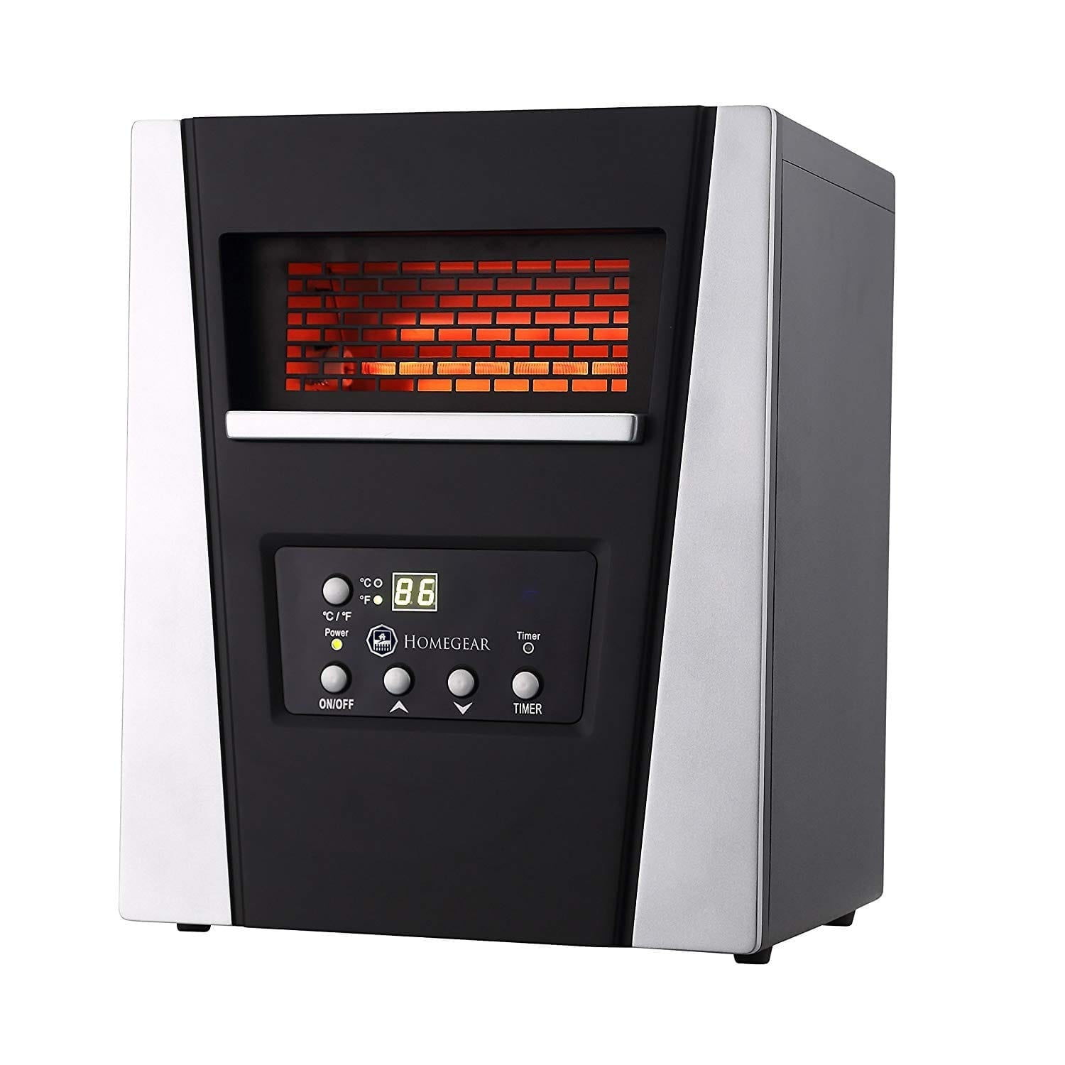 Homegear 1500 SqFt Infrared Electric Portable Space Heater Black +Remote Control
