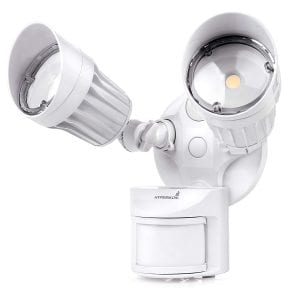 Hyperikon 2 Head 20W LED Outdoor Flood Motion Sensor Security Light