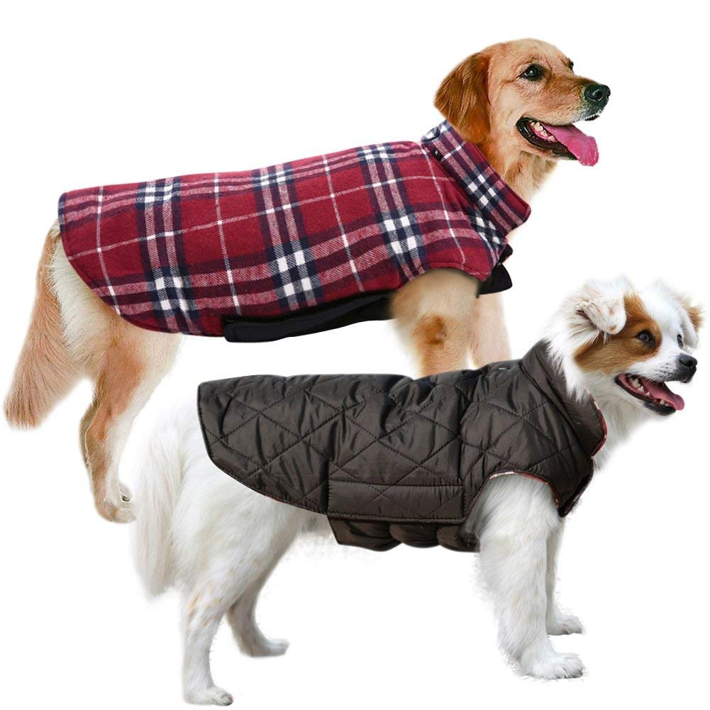 MIGOHI Winter Windproof Waterproof Reversible Dog Coat