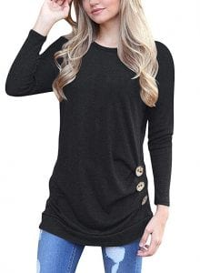 MOLERANI Women's Casual Loose Tunic T-Shirt