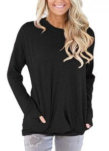 Onlypuff Women's Casual Solid T-Shirt