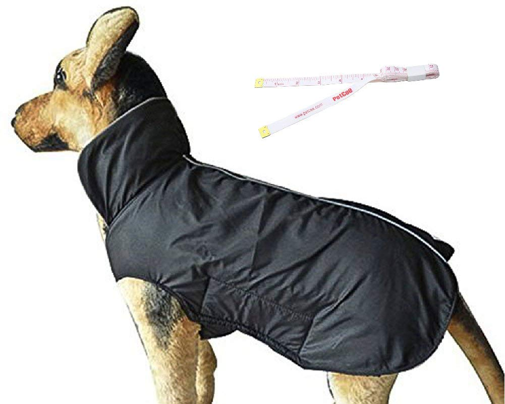 PETCEE Fleece Lined Warm Waterproof Dog Jacket