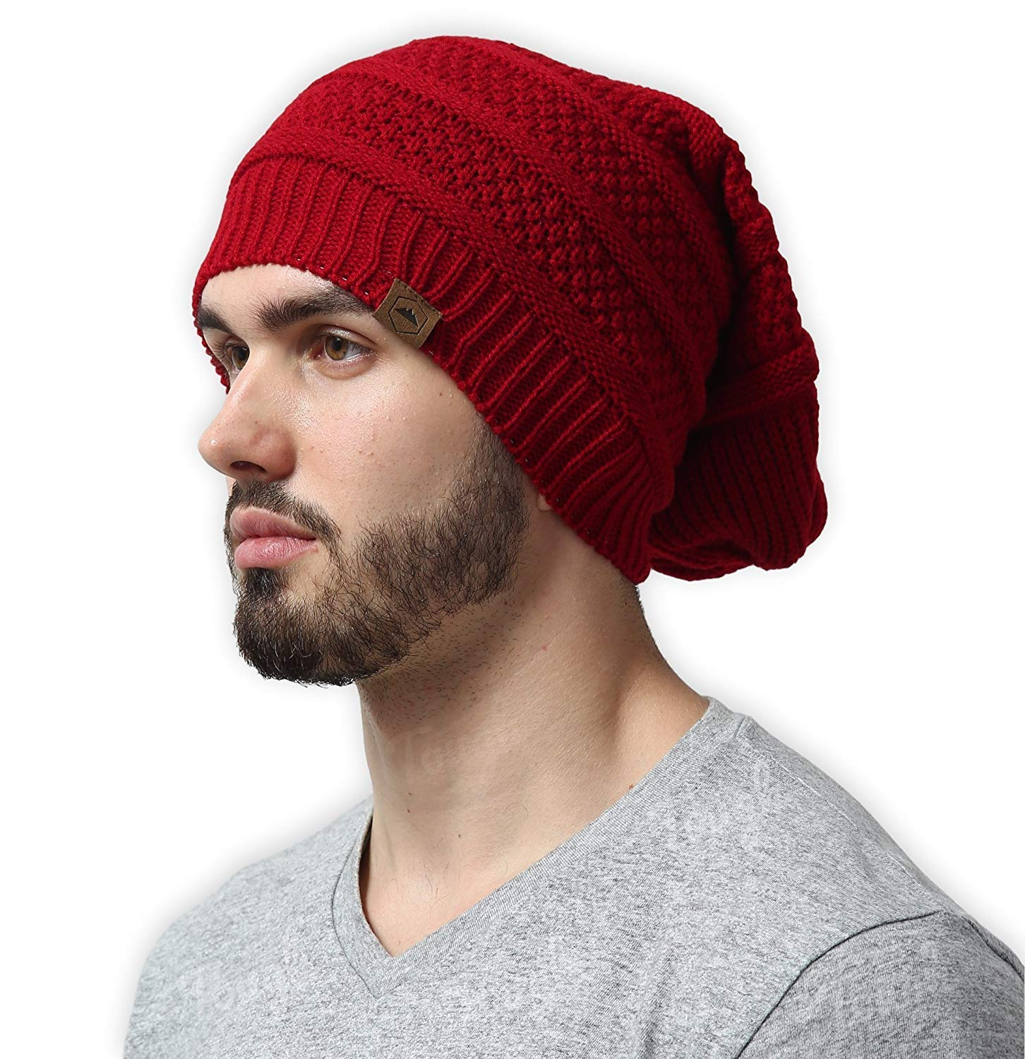 Tough Headwear Slouchy Cable Knit Beanie