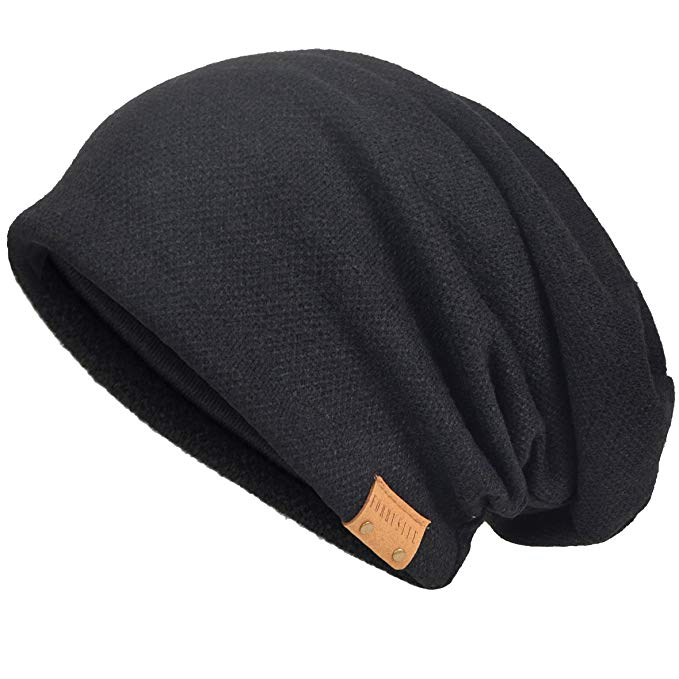 VECRY Men's Cool Cotton Beanie Slouch Skull Cap