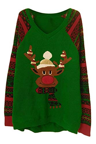 Viottis Women's Animal Pattern Christmas X-Mas Pullover Knitted Sweaters Jumpers