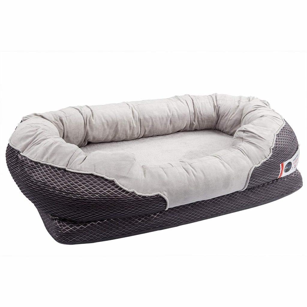 BarksBar Gray Orthopedic Large Dog Bed