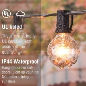 Brightown 50Ft Outdoor Patio String Lights