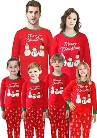 IF Family Matching Family Christmas Santa Claus Sleepwear Pajamas