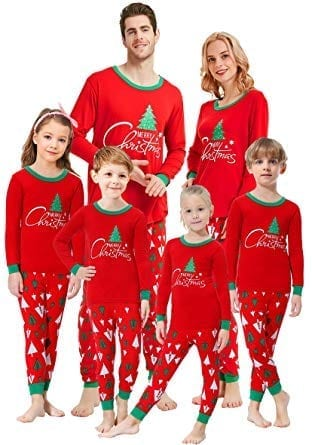 Shelry Christmas Tree Matching Family Pajamas set