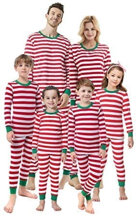Shelry Striped Kids Sleepwear Matching Family Christmas Pajamas