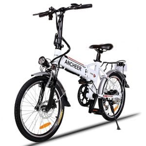 ANCHEER Folding Electric Bike with 36V Lithium-Ion Battery