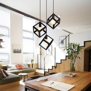 Betorcy Geometric Pendant Lighting Cage