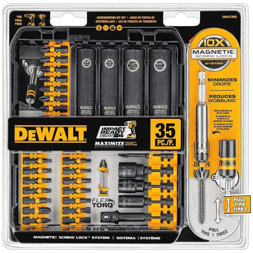 DEWALT DWA2T35IR IMPACT READY FlexTorq Screwdriving Bit Set