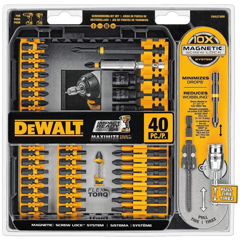 DEWALT DWA2T40IR IMPACT READY FlexTorq Screw Driving Set