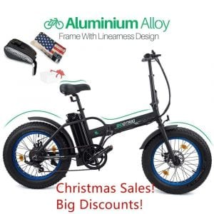 "ECOTRIC 20"" New Fat Tire Folding Electric Bike"