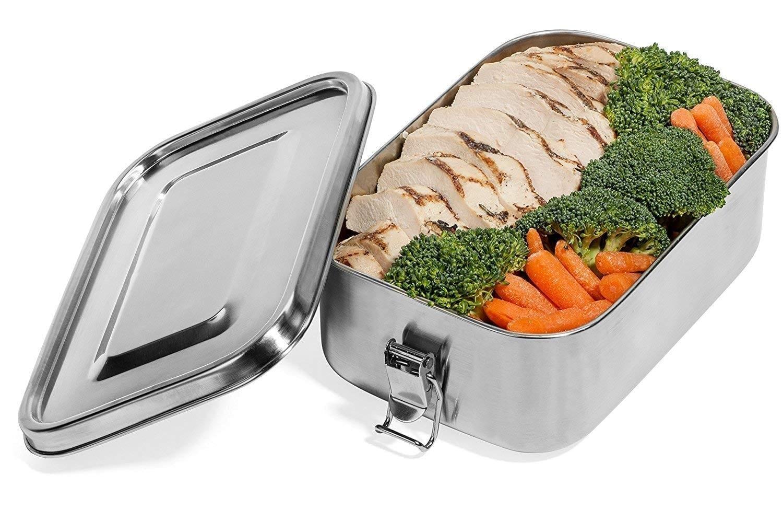 Leak Proof Stainless Steel Food Container -B01MFDGHN1