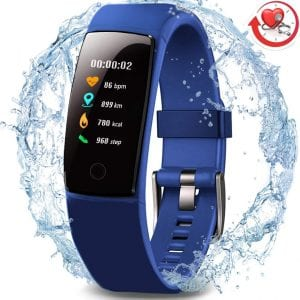 MorePro waterproof fitness tracker with heart rate and blood pressure monitors