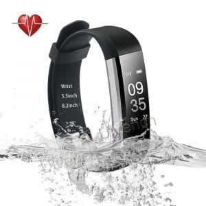 Ulvench Fitness Tracker with heart rate monitor, calorie counter and pedometer
