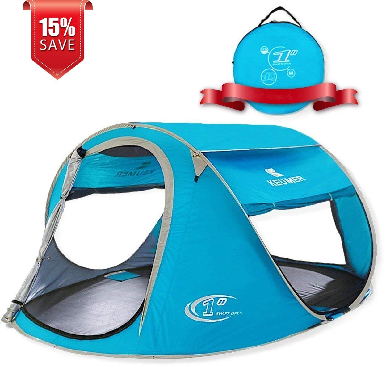 ZOMAKE Pop Up Tent 4 Person Beach Tent
