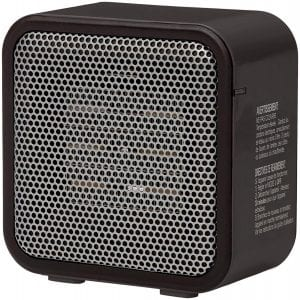 AmazonBasics 500-Watt Ceramic Small Space Personal Mini Heater